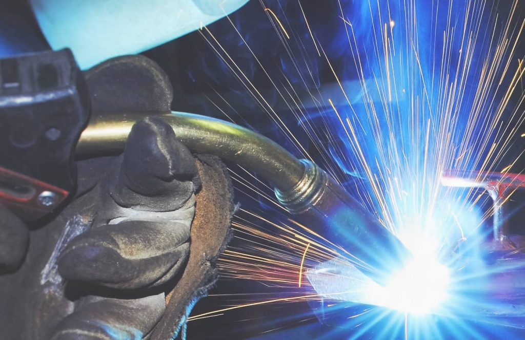 image showing the MIG welding process