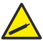 image of symbol for compressed gas caution
