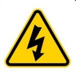 image of symbol for electric shock caution