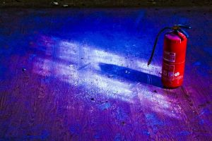 image of a fire extinguisher on a floor
