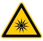 symbol for optical radiation caution