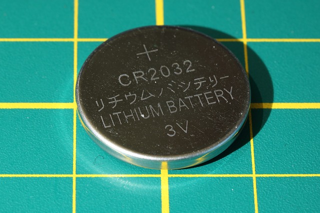 image of a lithium button battery