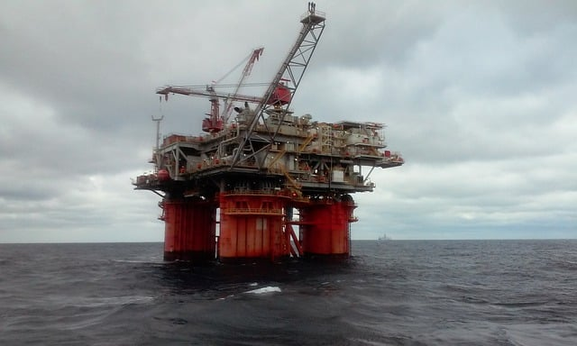 image of the offshore oil platform in the ocean
