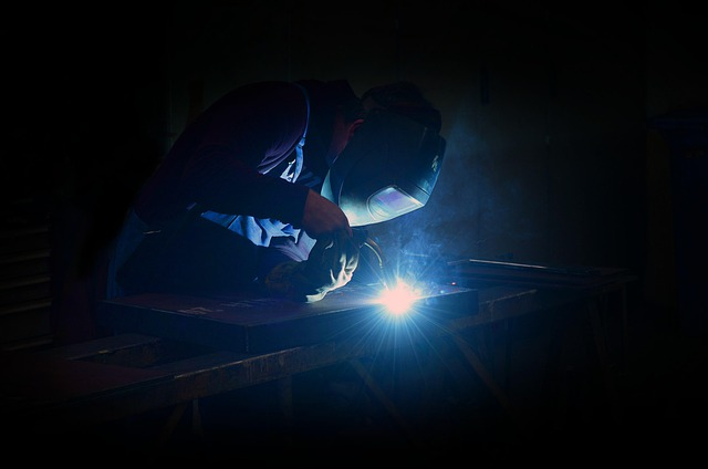 image of a worker making a weld