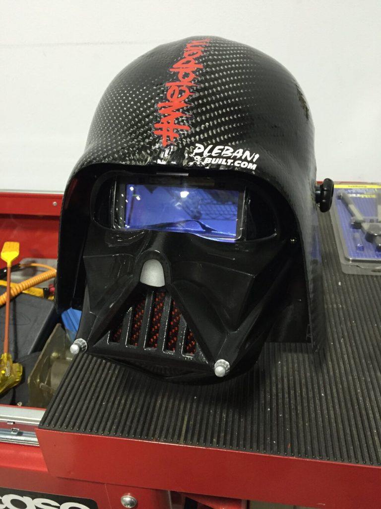 image of a Darth Vader Welding Helmet