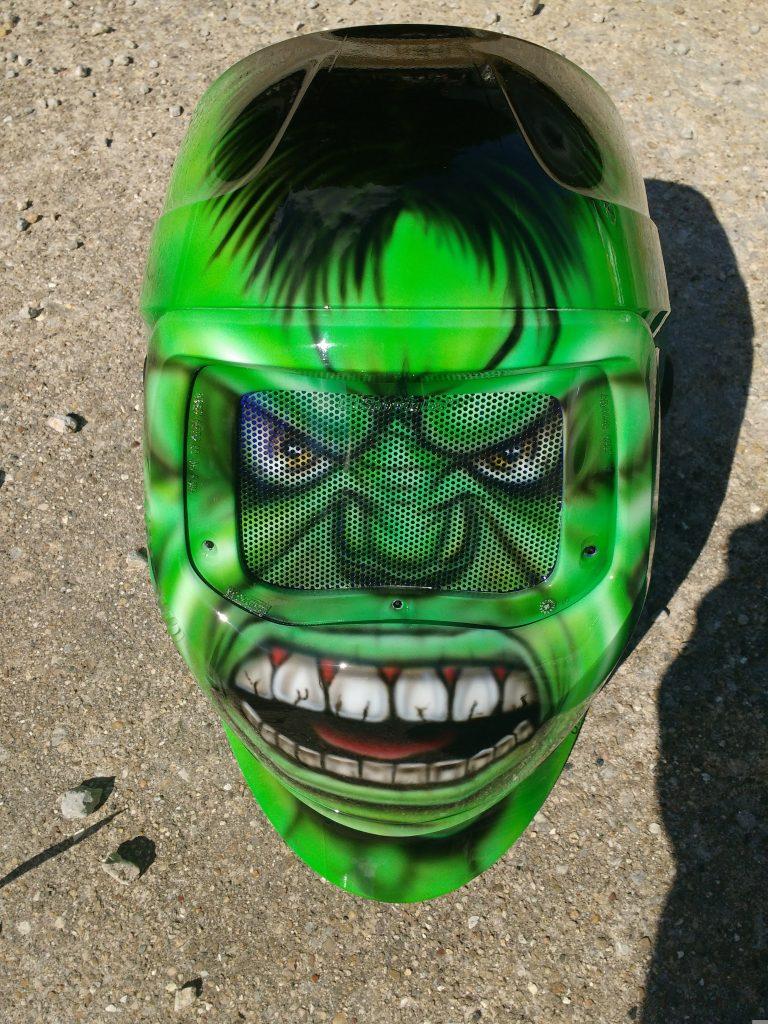 Image of a Hulk welding helmet