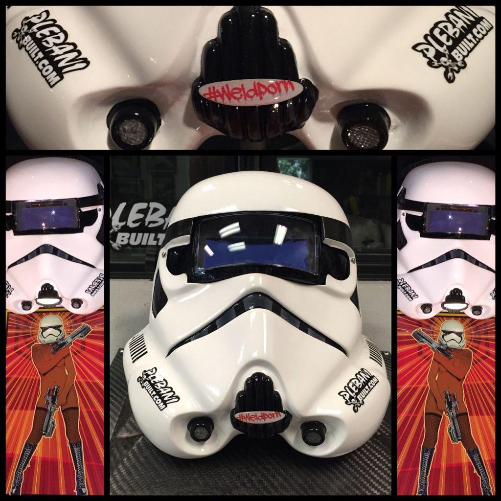 Image of a stormtrooper welding helmet