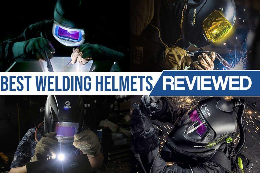 image of various welding helmets used on job