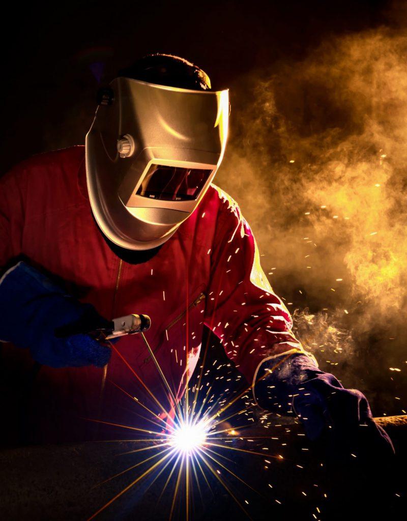 Stylized image of welder